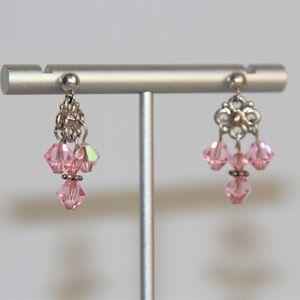 Vintage Sterling Silver Swarovski Crystal Earrings